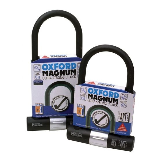 Oxford Magnum Shackle Lock with Bracket