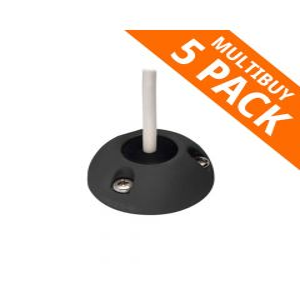 Scanstrut DS21B-P-BLK Black Plastic Vertical Cable Seal 9-14mm - 5pk