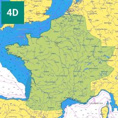 C-MAP 4D Chart: EW-D235 - French Inland Waterways - SD-Card