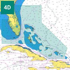 C-MAP 4D Chart: NA-D943 - Florida and The Bahamas - SD-Card