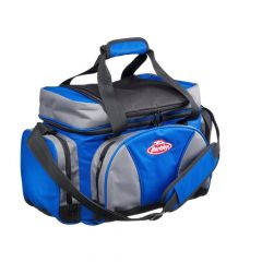 Berkley System Bag L with 4 Tackle Boxes & Top Cooler - Blue/Grey