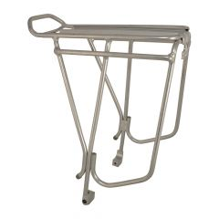 """Oxford 26""""-28"""" Alloy Luggage Rack Disc Brake Compatible - Silver"""