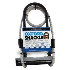 Oxford Shackle Lock 12 Duo 180x320cm 1.2m x 12mm Cable
