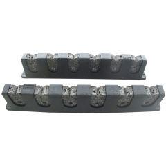 Berkley Horizontal Rod Rack with 6 RodsBlack