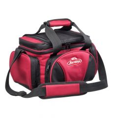 Berkley System Bag L with 4 Tackle Boxes & Top Cooler - Red/Black