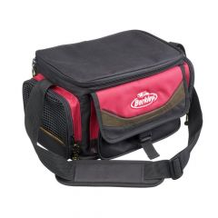 Berkley System Bag M with 4 Tackle Boxes - Red/Black