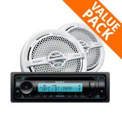 Sony MEX-M72BT AM/FM Marine Stereo & MP1611 140W Speakers