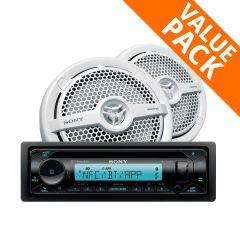 Sony MEX-M72BT AM/FM Marine Stereo & MP1621 160W Speakers