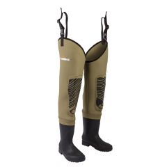 Snowbee_Men_Classic_Neoprene_Cleated_Sole_Thigh_Wader_-_Light_Olive,_Size_6