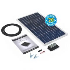 Solar Technology 30w Rigid Solar Panel Kit & 10Ah Charge Controller