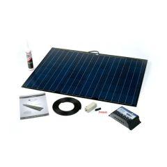 Solar Technology 100W Flexi Black Solar Panel Roof/Deck Kit & MPPT