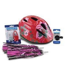 Oxford Mini Girls Cycling Helmet Bundle
