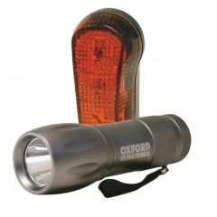 Oxford Ultra Torch 9 LED Front Headlight & Rear Bike Light Set