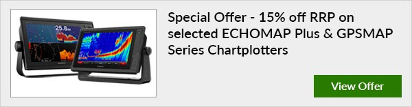 15% OFF RRP on selected ECHOMAP & GPSMAP Series Chartplotters