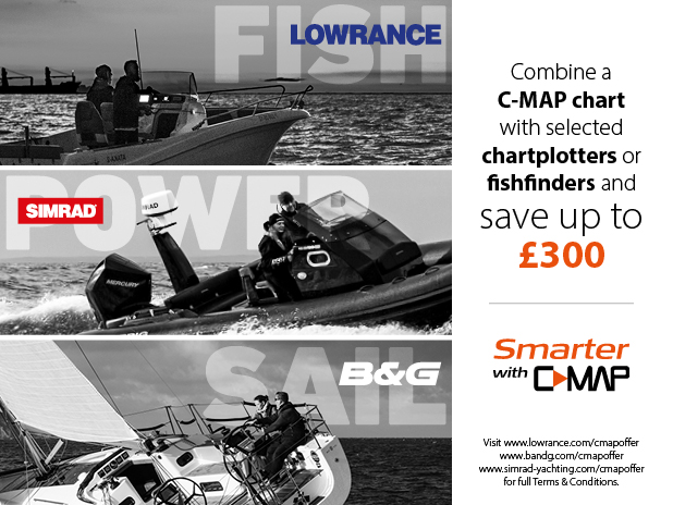 Save up to £300 with C-MAP Navico bundles